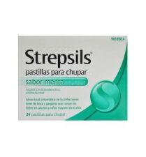 STREPSILS MENTOL 24 PASTILLAS