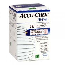 TIRAS REACTIVAS GLUCEMIA ACCU-CHEK AVIVA 10 U