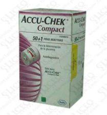 TIRAS REACTIVAS GLUCEMIA ACCU-CHEK COMPACT 51 U