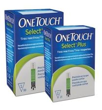 TIRAS REACTIVAS GLUCEMIA ONETOUCH SELECT PLUS 1