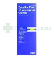 ZINCATION PLUS 10/4 MG/ML CHAMPU MEDICINAL 500 M